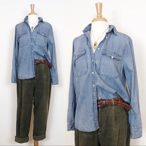 J Crew • Chambray Button Down • sz small